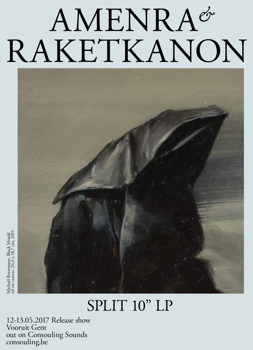 Amenra and Raketkanon will release split 10″. Artwork by MichaëlBorremans