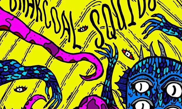 Psychedelic Garage Charcoal Squids