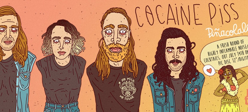 Listen to wild and noisy punkers Cocaine Piss