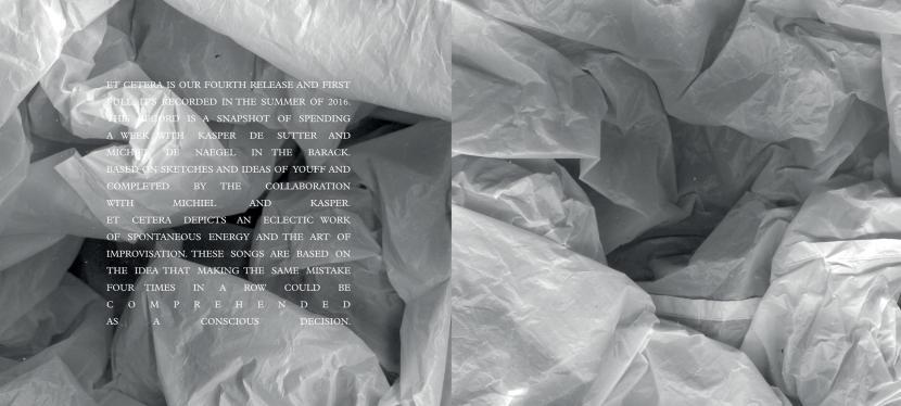 Belgian Noiserockers Youff release 'EtCetera'